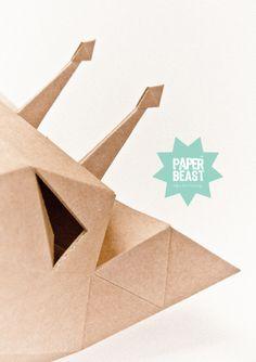 Cardboard Trophies Belgium Hand Made Design by Julie Rousseau www.paperbeast.be