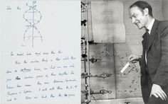 """DNA's discoverer Francis Crick's handwritten note tells his 12-year-old son that he and his colleague Jim Watson had """"probably"""" made a """"most important discovery.""""  Dr Crick wrote: """"We have built a model for the structure of des-oxy-ribose-nucleic-acid, (read it carefully) called DNA for short. In other words we think we have found the basic copying mechanism by which life comes from life."""" The note, which is dated March 19 1953, is expected to sell for 1.3 million pounds in New York."""
