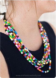 Halsband med nabbipärlor – Nabbi bead necklace (Craft & Creativity)