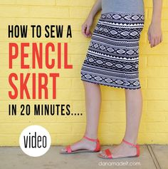 Did you know you could sew a Pencil Skirt in 20 minutes?! And it will look all amazing and professional?? come watch.... MADE Everyday