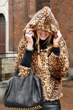 Right now I am obsessed with the idea of a chunky leopard print coat