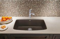 Blanco 441613 Valea Super Single Bowl Silgranit II Undermount Kitchen Sink - Cafe Brown - Faucet Depot