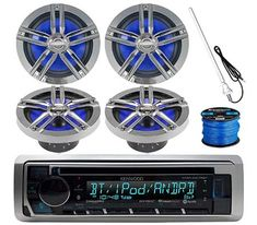 Who said you cannot listen to your favorite music when on your boat. However, to listen to music on the boat, one needs a quality Marine Stereos. Car Stereo Speakers, Car Audio, Kenwood Stereo, Boat Radio, Boss Audio, Best Boats, Marine Boat, Audio System