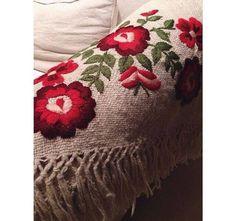 flowers - llama wool blanket-  mantaargentina@gmail.com