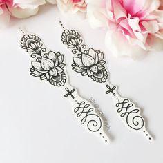 Lotus-ornamentalen temporäre Tattoo-Set von Okitssteph auf Etsy