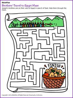 Brother's Travel to Eqypt (Joseph, Maze) - Kids Korner - BibleWise