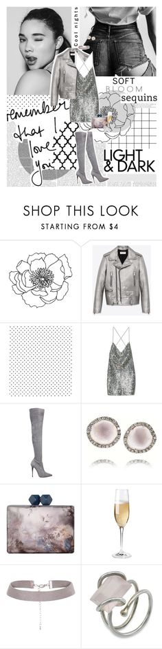 """""""Know we'll turn heads forever, we out here drippin' in finesse. ♥"""" by sssdmr ❤ liked on Polyvore featuring Yves Saint Laurent, Marc Jacobs, Le Silla, Kimberly McDonald, Coast, Wine Enthusiast and NOVICA"""