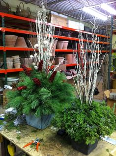 89 Beautiful Winter Holiday Outdoor Plants You will Like it - - - Christmas Urns, Christmas Planters, Christmas Greenery, Natural Christmas, Christmas Flowers, Outdoor Christmas Decorations, Rustic Christmas, Simple Christmas, Christmas Holidays