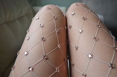 Oh. Em. Gee. Starry Handmade Fishnets by LirikasByLirika on Etsy