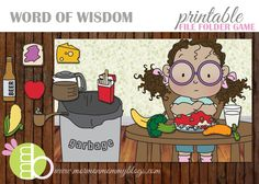 Free Word of Wisdom Printable File Folder Game