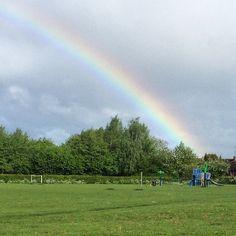 https://flic.kr/p/tcSaKa   Lovely rainbow when we were out walking the dogs this morning :) #upsticksandgo #unitedkingdom #travel #rainbow #michfrost #exploring #dogwalking #housesitting #wellington #telford