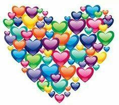 Heart of rainbow balloons