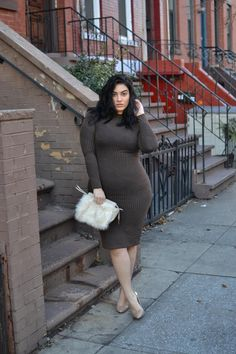 K. Lorraine pencil dress, Jessica Simpson nude pumps, Similar furry bag - www.nadia aboulhosn.com