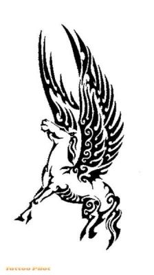 Tatouage: Licorne tribal tattoo_6