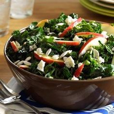 Kale Salad Recipe -I love making meals that wow everyone. The flavor and nutrition in this kale dish set it apart from other 30-minute creations. — Gina Myers, Spokane, Washington