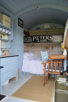 Shepherds Hut - Hampshire hire out nice glamping idea. Also a nice Steampunk Camping idea if you want to trailer it. Tyni House, Tiny House Living, Small Living, Glamping, Rv Camping, Camping Hacks, Hampshire, Shepherds Hut, Tiny Spaces