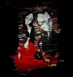 Bookshelf Sculptures by Mike Stilkey via Fab Stuff