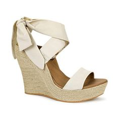 UGG Jules Pearl Fabric Platform Wedge Sandal (Women)