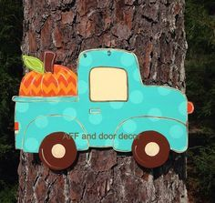 Fall door hangerfall Truck door by Furnitureflipalabama on Etsy, $30.00 plus 14.00 shipping  hand made hand cut sealed for protection 0.5 plywood light weight  painted black on back measures about 23' wide and 15' tall  customizable you can choose the wording you want -be thankful -be grateful -welcome -give thanks -happy fall ya'll -seasons blessings -your family name