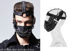 Punk-Rave-Steampunk-Maske-Hannibal-Mad-Max-Kunst-Leder-Mundschutz-PU-Gothic-S158