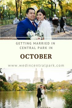 October is a lovely time of year to get married in Central Park and it might actually be our most popular month for weddings (although May could also be our most popular month!). This is the… More Groom Wedding Pictures, Wedding Groom, Fall Wedding, Wedding Reception, Wedding Venues, Dream Wedding, Autumn Weddings, Top Wedding Trends, Wedding Styles
