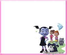 Vampirina stickers etiquetas para imprimir gratis | Todo Peques Minnie Mouse, Disney Characters, Fictional Characters, Snoopy, Party, Birthday Invitations, Cartoon, Daughter, Fiesta Party