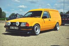 Ford Escort Van on banded steelies Retro Cars, Vintage Cars, Ford Courier, Ford Motorsport, Ford Sierra, Cool Vans, Ford Capri, Ford Classic Cars, Ford Escort