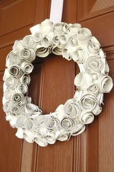 After: Snowy White Wreath  - GoodHousekeeping.com