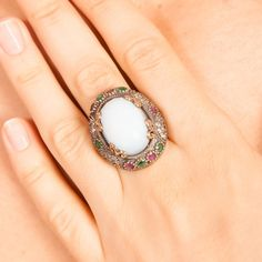 The Zerbap Müge Ring with Zircon Emerald Ruby by Rosestyle on Etsy, $53.00