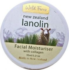 Lanolin and Collagen Face Cream by Wild Ferns -  A face cream that is simple and effective with the benefits of Lanolin and Collagen combined, and is well suited as an all purpose face moisturiser.