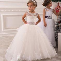 Preciosos-vestidos-niña-cordones-vestido-de-bodas-bola-cinta-Sash-boda-vestido-del-desfile-para-niñas.jpg (800×800)