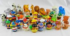 Lot of  Fisher Price LITTLE PEOPLE Animals Figures Zoo Dinosaur Pirates 40+ #FisherPrice