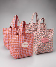 grocery bags - bring your own to cut down on plastic bags!