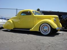 Canary Yellow 36 Ford Coupe