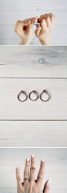 DIY: twisted wire rings