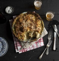 the best cauliflower and broccoli cheese -- jamie oliver Cauliflower And Broccoli Cheese, Broccoli And Cheese Recipe, Baked Cauliflower, Cheese Recipes, Cooking Recipes, Savoury Recipes, Jamie Oliver Cauliflower Cheese, Cheese Food, Cheese Sauce