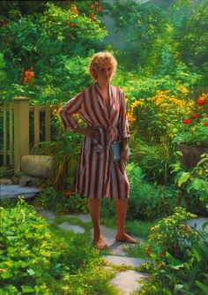 Nanny in the Garden / Painting by Scott Prior