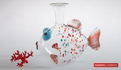 code IT-337 Decanter pesce Betta � 27 cm h. 23 cm #madeinitaly