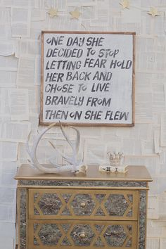 She Flew Sign by TheHouseofBelonging on Etsy, $100.00