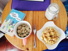 Desayuno 🍳 Acaramelado Cereales  Leche  Banano acaramelado con Canela
