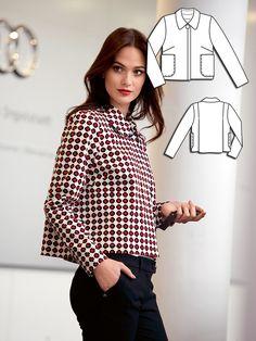 A Line 60s Jacket 02/2014 #132 http://www.burdastyle.com/pattern_store/patterns/a-line-60s-jacket-022014?utm_source=burdastyle&utm_medium=blog&utm_campaign=bsawblog020314-alinejckttxt