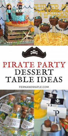 Tons of adorable pirate-themed dessert ideas and some gorgeous cake inspiration for the perfect Pirate Birthday Party for Kids! Get details now at fernandmaple.com!
