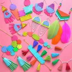 Learn how to make these colorful pieces in my new book Creative Leather Jewelry available online and in stores!