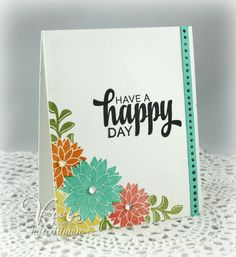 Clean & simple card by Julee Tilman using Be Blessed from Verve.  #vervestamps
