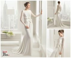 Rosa Clara Georgette gown is to die for! What a beautiful, and elegant wedding gown!