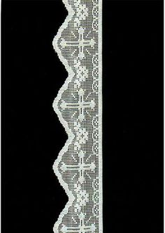 Le gusta a encarna nazareno Crochet Lace Edging, Crochet Motifs, Crochet Borders, Crochet Cross, Crochet Round, Irish Crochet, Crochet Doilies, Knit Crochet, Crochet Edgings
