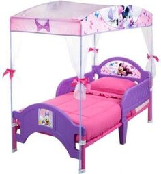 Kids at Home: Toddler Bed With Canopy Disney Minnie Mouse Kids Girls Bedroom Set New BUY IT NOW ONLY: $86.12 #priceabateKidsatHome OR #priceabate