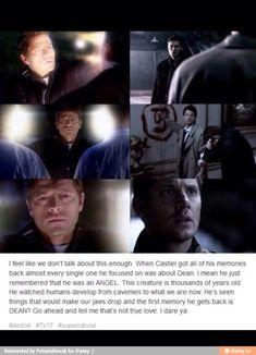 when Castiel got his memories back (Destiel)