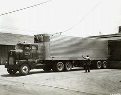 International LFCD-405 Truck   Photograph   Wisconsin Historical Society