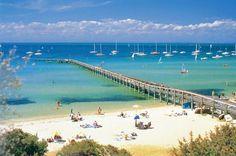 Sorrento Beach, Melbourne Australia. A popular spot in Summer.
